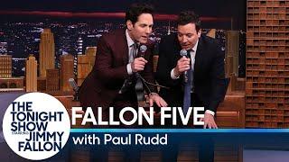 Download Tonight Show Fallon Five: Paul Rudd Video