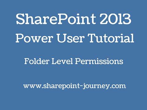 SharePoint 2013: Folder Level Permissions | SharePoint-Journey.com