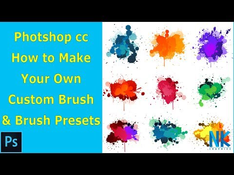#Photoshop Tutorial in Hindi  | How to Make Your Own Custom Brush & Brush Presets (NKGraphicx)