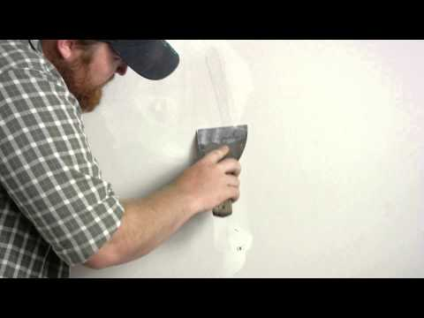 Patching Torn Drywall Paper : Wall Repair