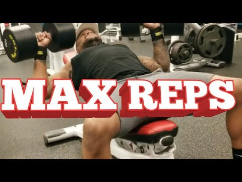 100 LBS DUMBBELL INCLINE  BENCH CHALLENGE