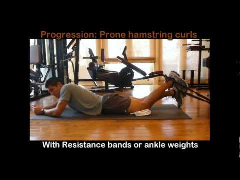 Total Knee Replacement Exercises 5 - Hamstring Exercises for Pulled Hamstring Injury