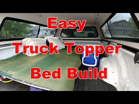 How To Build A Simple Truck Topper Bed For Truck Camping