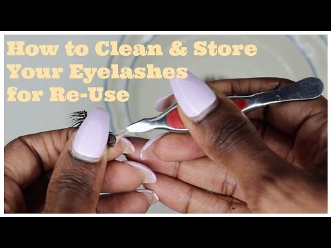 How To Clean Your MINK Lashes ft Lady Lashes in Madam