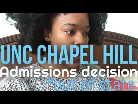 UNC Chapel Hill Admissions Decision Reaction 2016 (Out of State)