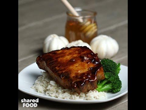 Sticky Garlic Pork Chops