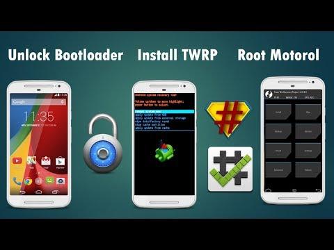 How to unlock bootloader, install TWRP and ROOT of motorola phones