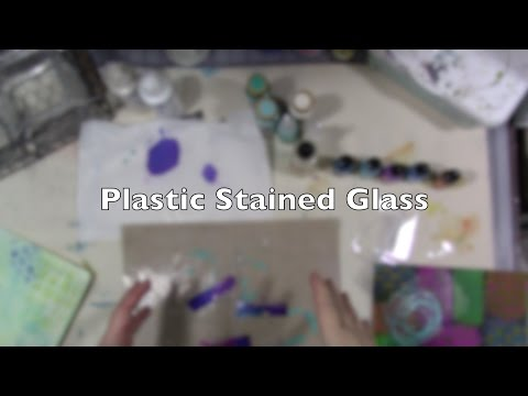#myyear2017 Plastic Stained Glass