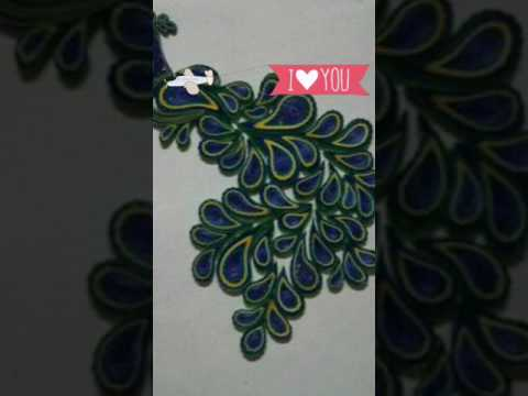 Paper quilling || peacock new design