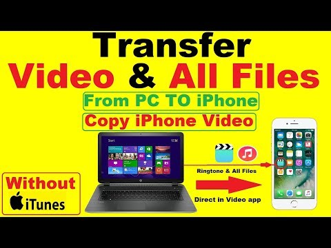 Transfer Video from PC to iPhone | Transfer All files photos,ringtone PC To iPhone  Without iTunes