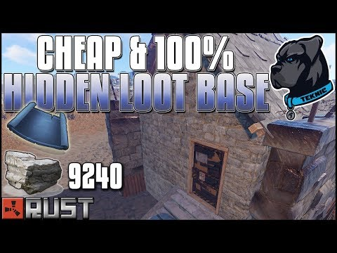 100% HIDDEN LOOT and SUPER CHEAP Rust Base Build - Rust Base Design Series