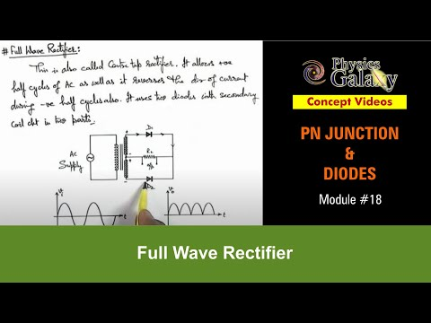18. Physics | PN Junction & Sem Diodes | Full Wave Rectifier | by Ashish Arora