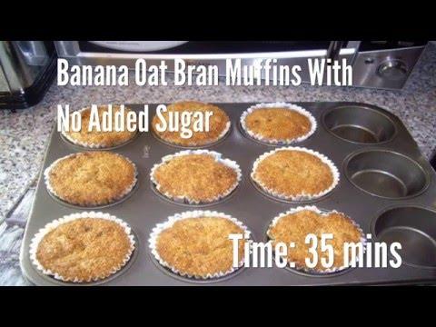 Banana Oat Bran Muffins With No Added Sugar Recipe