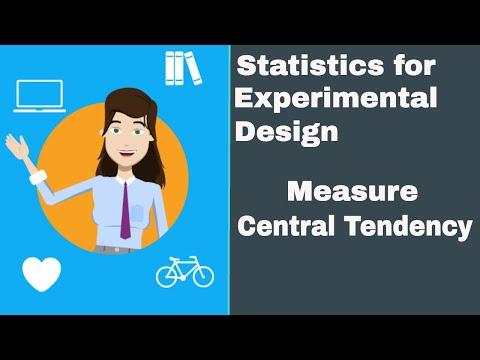 Statistics for experimental design- Mean,Median,Mode,Range