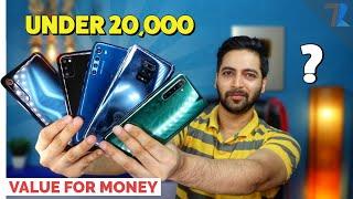 Top 6 Best Smartphones🔥 Under Rs 20,000 in India | Value For Money Phones💪