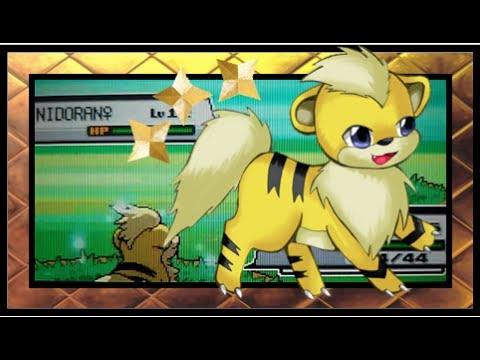 Shiny Growlithe in HeartGold after ??? REs (Second for HeartGold Color-Quest)