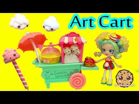 Scented Num Noms Popcorn Art Cart with 5 Exclusive Numnoms - Cookieswirlc Video