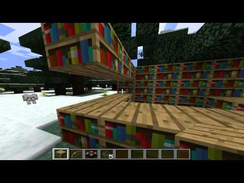 How to make a Flame Bow in minecraft [HD]