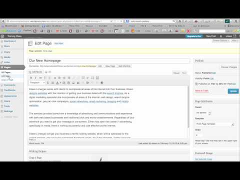 How to Make A Specific Homepage in WordPress 2012 Theme