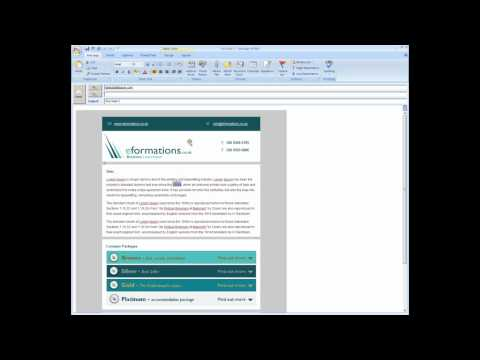 How to send an email template from Microsoft Office Outlook