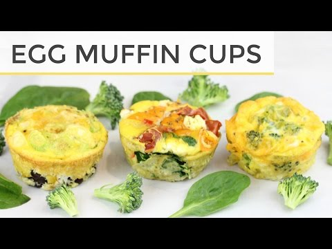 3 Healthy Egg Muffin Cup - Meal Prep Recipes | Easy Healthy Breakfast Ideas