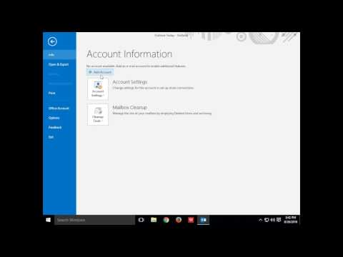 How to add an email account to Outlook 2016 for Windows