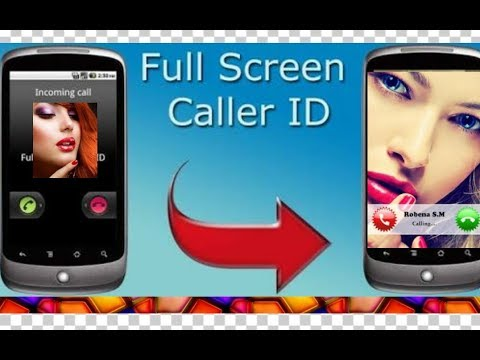 Caller photo fullscreen Android। How to set fullscreen caller id photo।
