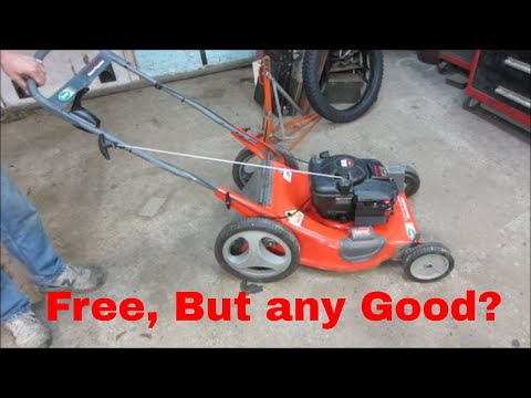 How to restore a lawn mower. cheap.