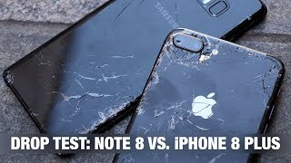 iPhone 8 Plus vs. Galaxy Note 8 - DROP TEST + пранк iPhone