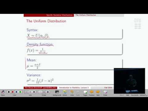 Lec 3B: Uniform distribution and example