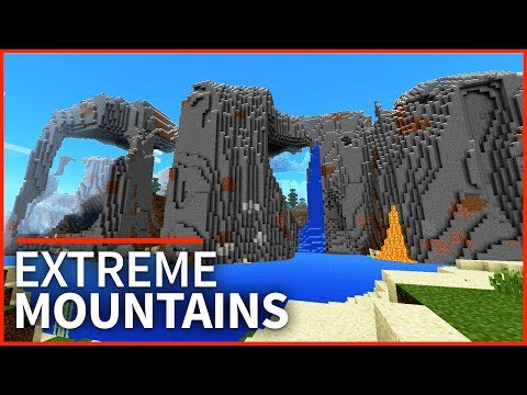 Minecraft PE Seeds - TOP 3 EXTREME HILLS SEEDS - Best Mountain Seeds for 1.2 // MCPE, Xbox, W10