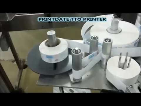 TTO Printdate Printing on Label for Pharmaceutical