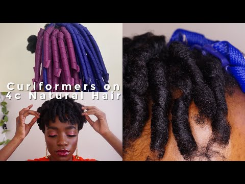 CURLFORMERS ON 4C NATURAL HAIR