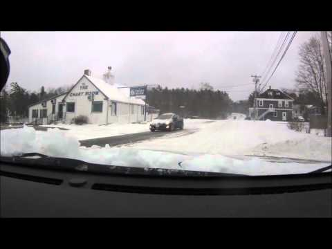 Town Hill to Bar Harbor in the snow