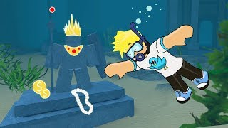 Diving for Deep Treasures in Roblox / Scuba Diving /  Gamer Chad Plays