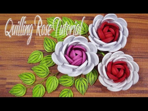 Quilling rose origami how to make paper quilling rose videos quilling rose flower tutorial diy paper rose flower tutorial mightylinksfo