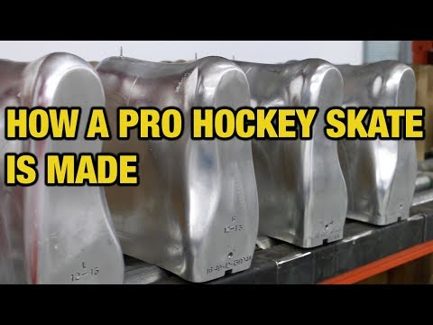 How a Pro Custom and retail hockey skate is made in Canada