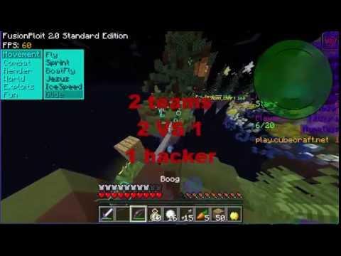 Minecraft Skywars Hacking Cubecraft #2 Fly working