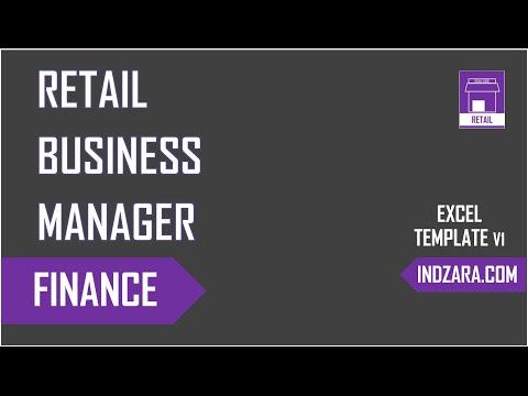 Retail Business Manager - Excel Template v1 - Finance Management