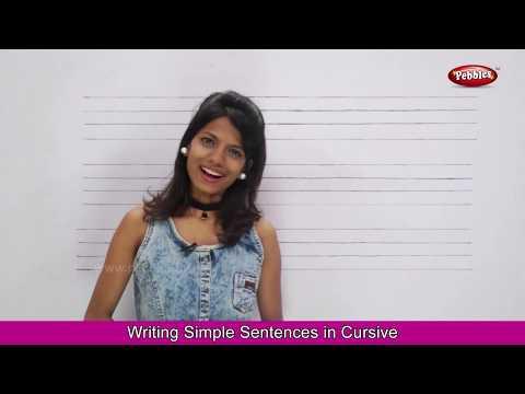Writing Simple Sentences For Children Part 2   Cursive Writing Practice   Basic English Sentences