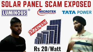 Fake Solar Panels in Lajpat Rai Market | SCAM | Check carefully before purchasing | UYT