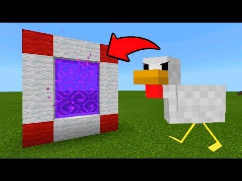 Minecraft Pe Portal To The Chicken Dimension - Mcpe Portal To The Chicken!!!