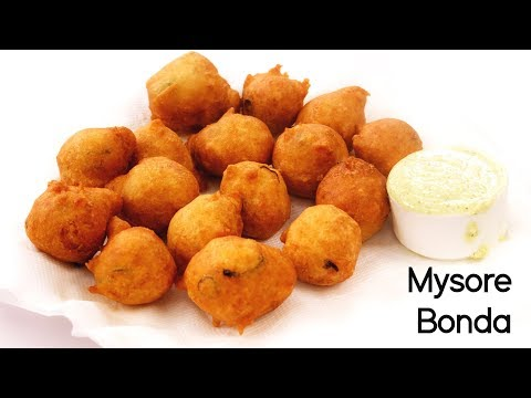 Mysore Bonda Recipe - Bajji Preparation in South Indian Style - CookingShooking