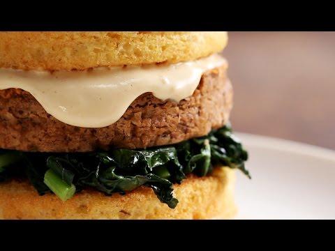 Mason Jar Cornbread Burger