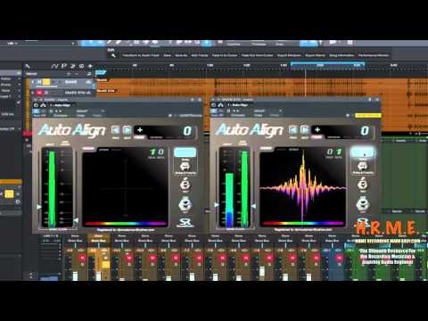 How To Use Auto Align By Sound Radix In PreSonus Studio One