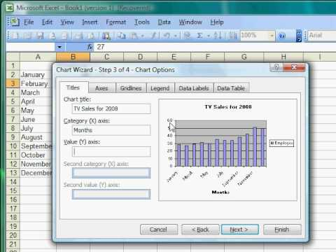 Excel Tutorial 13 of 25 - How to Make a Bar Graph