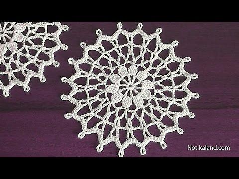 CROCHET Doily Tutorial for beginners How to crochet