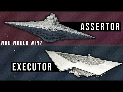 EXECUTOR Super Star Destroyer vs ASSERTOR Dreadnought | Star Wars Starship Versus