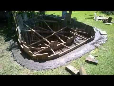 concrete pond DIY step by step
