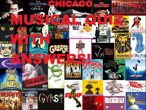 Musical Quiz! WITH ANSWERS!